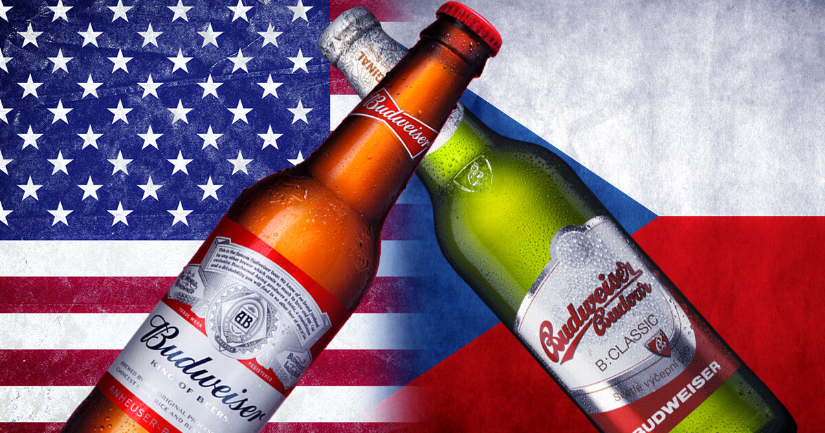 Budweiser case - image with different bottles of budweiser